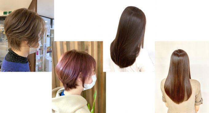 【髪質改善カラー】明るめ、暗め、白髪染め